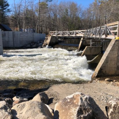 Water leaving the Ossipee Lake Dam Monday Morning, April 6. Alliance Photo